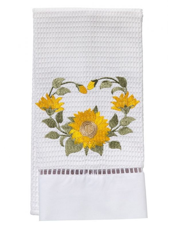 DG02-SNFLY Guest Towel, Waffle Weave - Sunflower