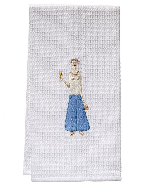 DG03-CHLBL Guest Towel - Waffle Weave - Champagne Lady (Blue)