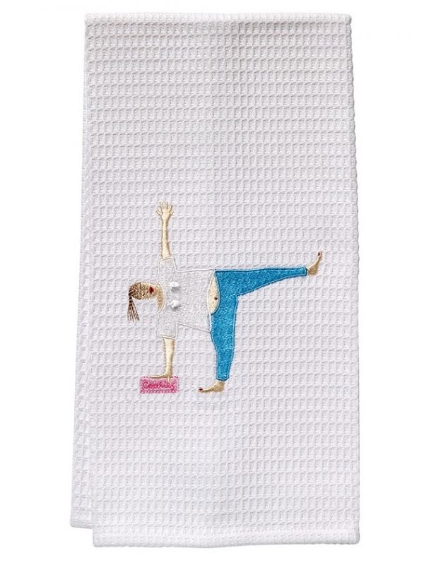 DG03-YCL Guest Towel - Waffle Weave - Yoga Cookies Lady