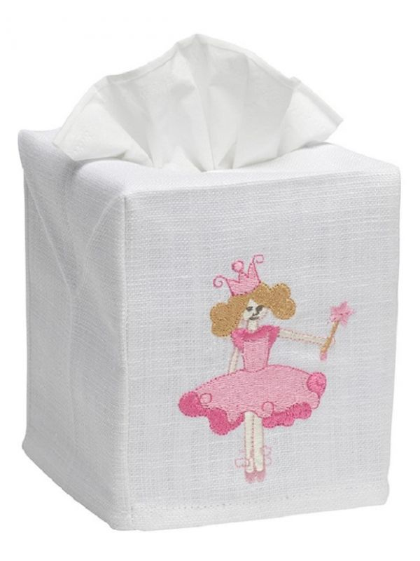 DG17-PRSPK Tissue Box Cover, Linen Cotton - Princess (Pink)