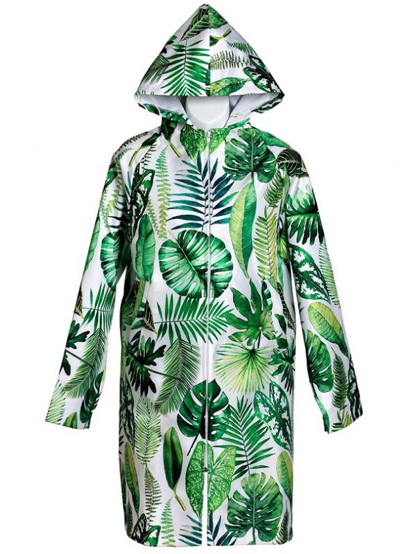 Raincoat, Tropical Leaf Design - RH122-TL