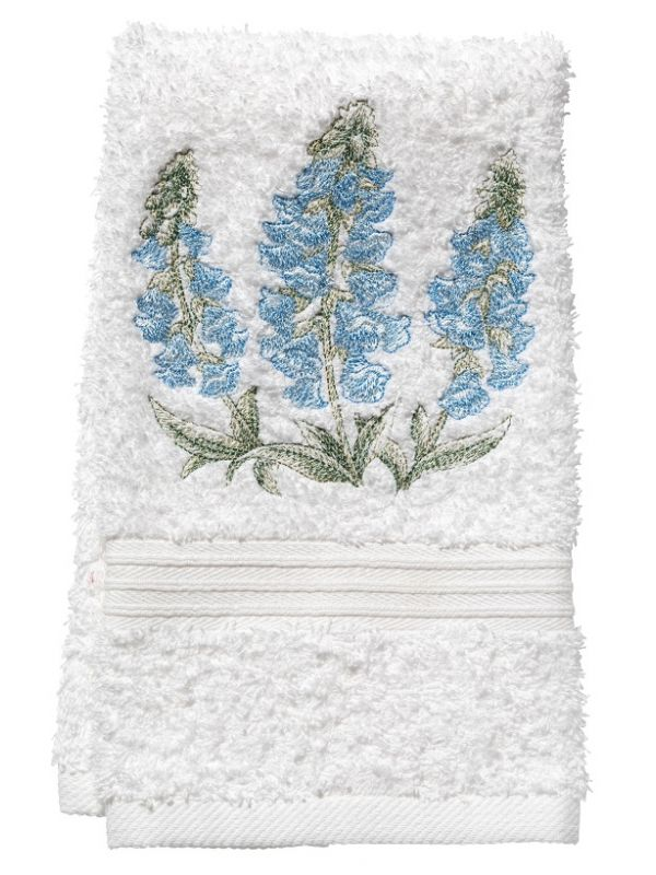 DG70-FGBL Guest Towel, Terry - Foxgloves (Blue)