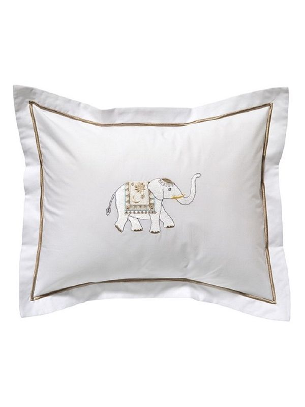 DG78-CELCT Boudoir Pillow Cover - Charming Elephant (Cream/Taupe)