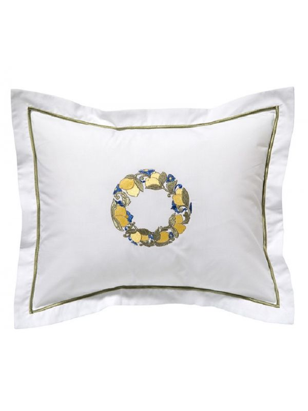DG78-LWRY Boudoir Pillow Cover - Lemon Wreath