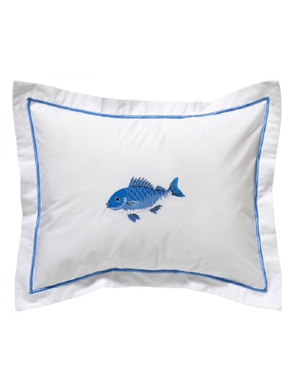 DG78-SFSBL Boudoir Pillow Cover - Swimming Fish (Blue)