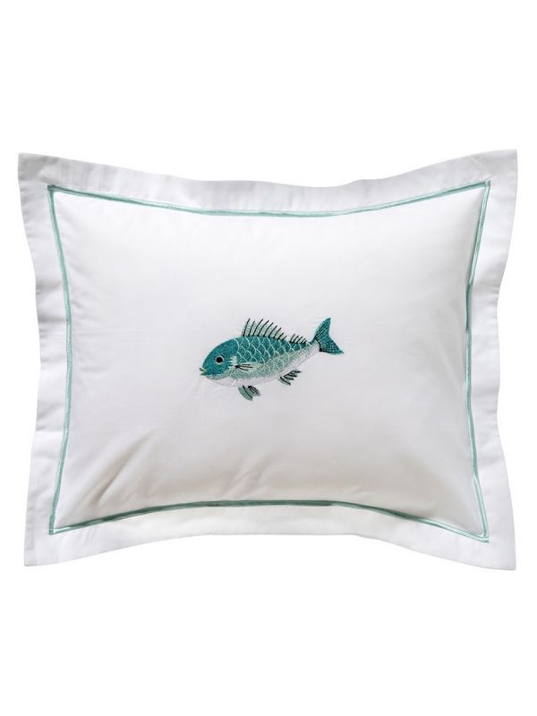 DG78-SFSAQ Boudoir Pillow Cover - Swimming Fish (Aqua)