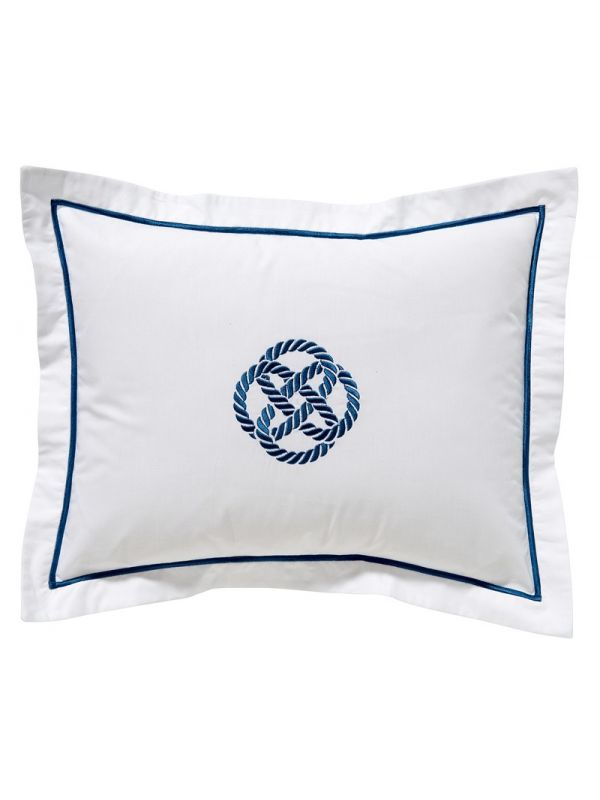 DG78-SKNNA Boudoir Pillow Cover - Sailor's Knot (Navy)