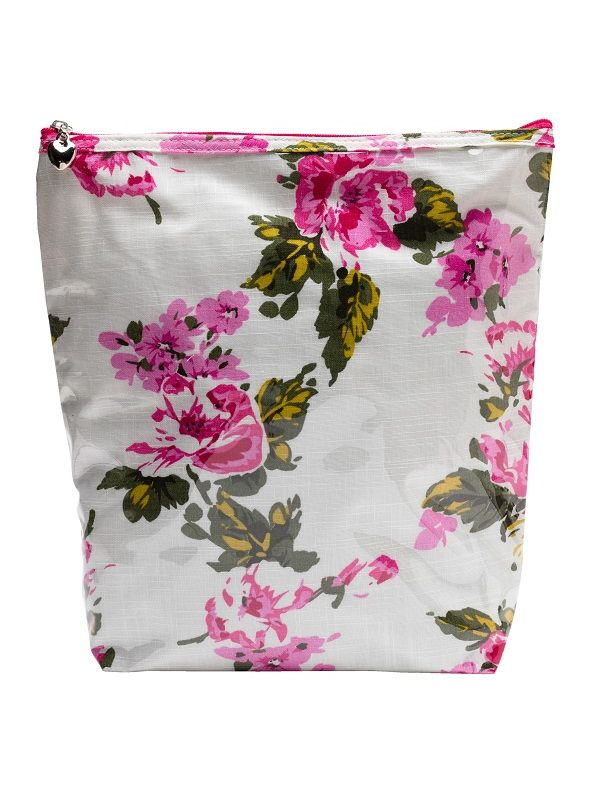 Cosmetic Bag (Large) Cotton/Waterroof PVC - Magenta Blossom - DN302-MB