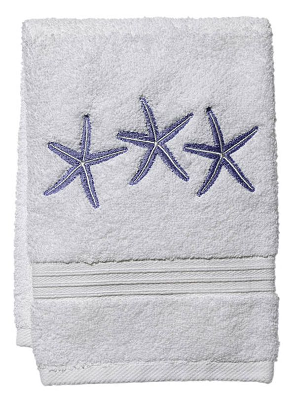 DG70-TSFBL** Guest Towel, Terry - Three Starfish (Blue)