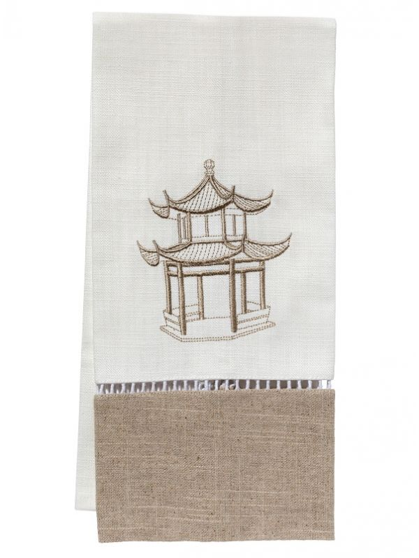 DG49-PAGBE - Guest Towel, Combo Linens - Pagoda (Beige)