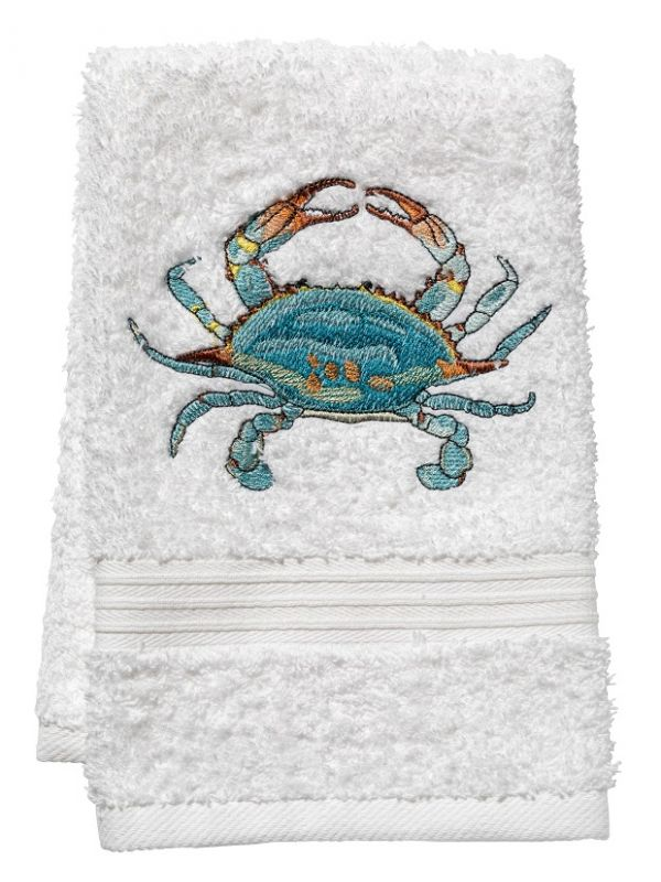 DG70-ACAQ Tissue Box Cover, Linen Cotton - Atlantic Crab (Aqua)