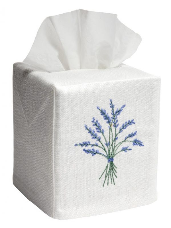 DG17-BHBL Tissue Box Cover - Heather (Blue)