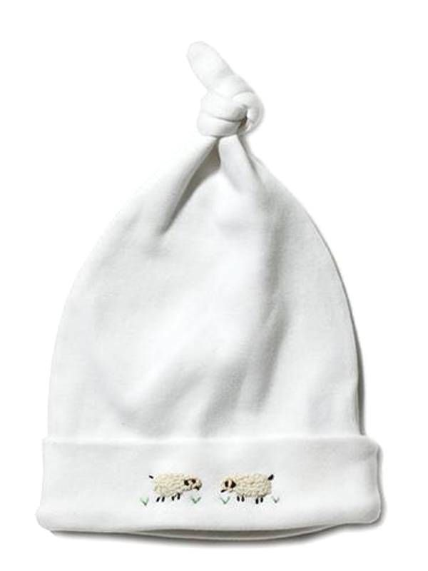 RW37-SHCR Knotted Hat** - Sheep (Cream)