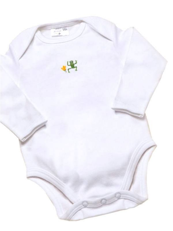 RW21-FRGR Onesie (Long Sleeve)**, Combed Cotton - Frog (Green)