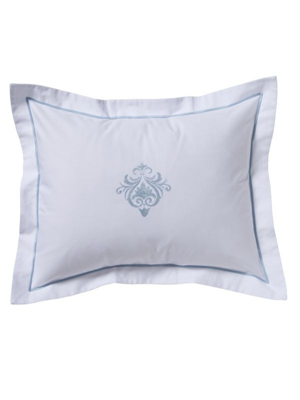 DG78-PRSDE Boudoir Pillow Cover - Parisian Scroll (Duck Egg Blue)