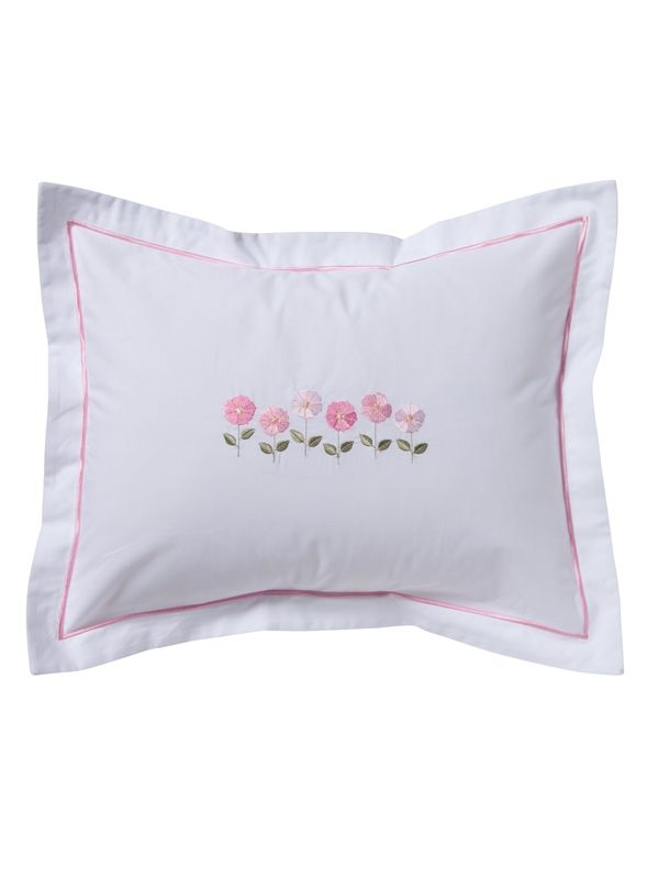 DG78-ROFPK** Boudoir Pillow Cover - Row of Flowers (Pink)
