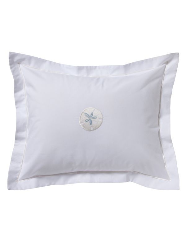 DG78-SDCRDE Boudoir Pillow Cover - Sand Dollar (Cream & Duck Egg Blue)