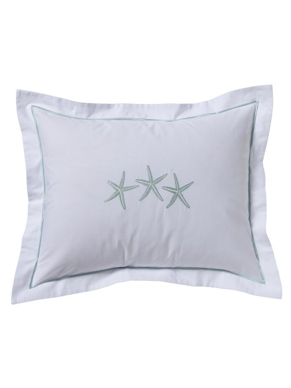 DG78-TSFAQ** Boudoir Pillow Cover - Three Starfish (Aqua)