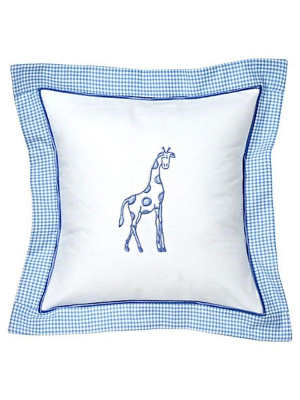 DG136-DGBL Baby Pillow Cover - Dot Giraffe (Blue)