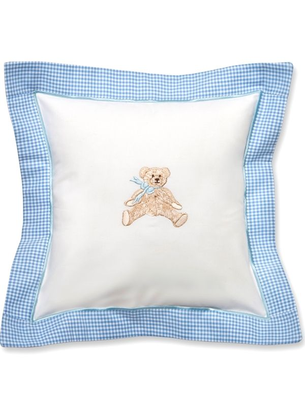 DG136-BTB Baby Pillow Cover - Bow Teddy (Blue)