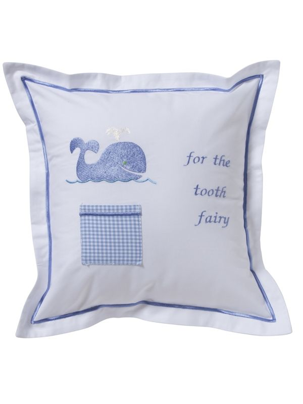 DG131-WB Tooth Fairy Pillow Cover - Whale (Blue)