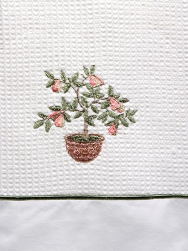 DG08-PTPK Guest Towel Waffle and Satin Stitch - Pear Tree (Pink)