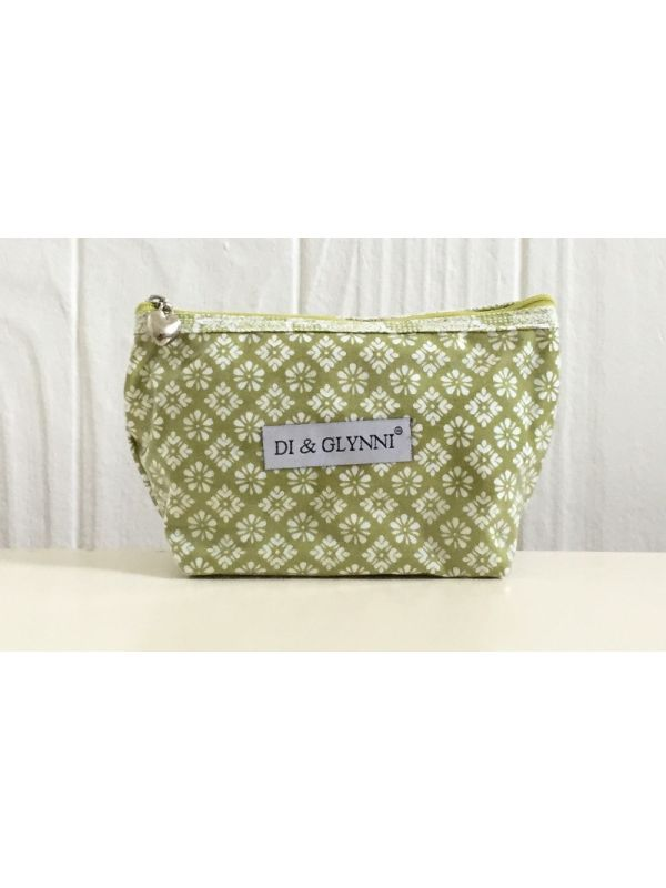DN300-L Cosmetic Bag, Cotton/Waterproof PVC (Small) - Lime