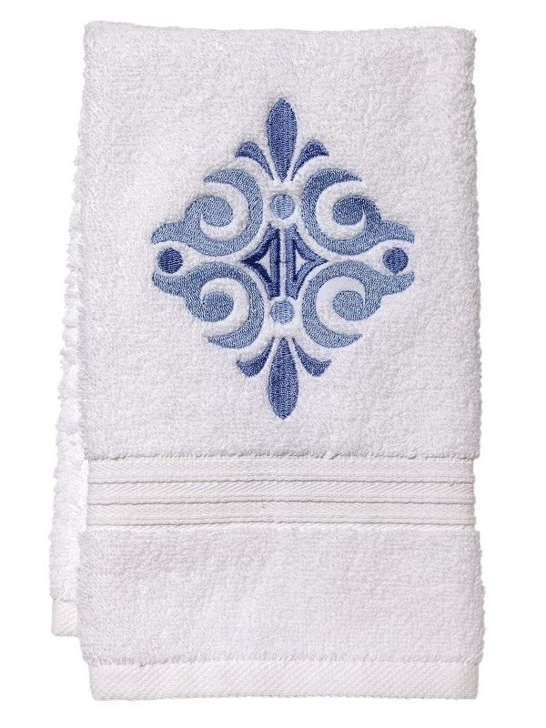DG70-AMSBL** Guest Towel, Terry - Amalfi Scroll (Blue)