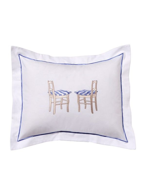 DG78-CHSBL Boudoir Pillow Cover - 2 Chairs (Blue)