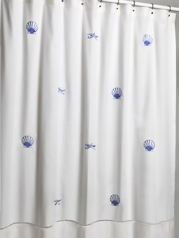 LG72-SCBL-SFBL** Shower Curtains - Scallop / Starfish combination (Blue)