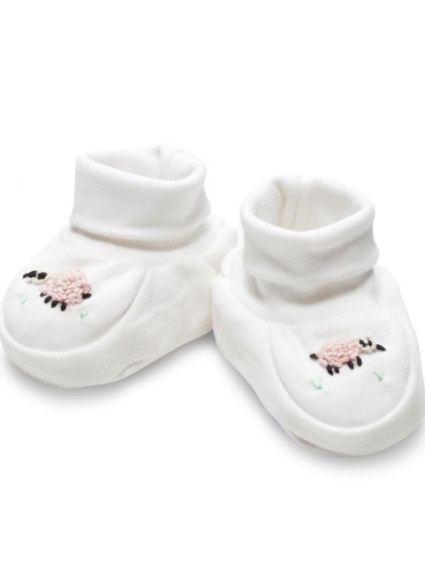 RW33-SHPK Booties** - Sheep (Pink)