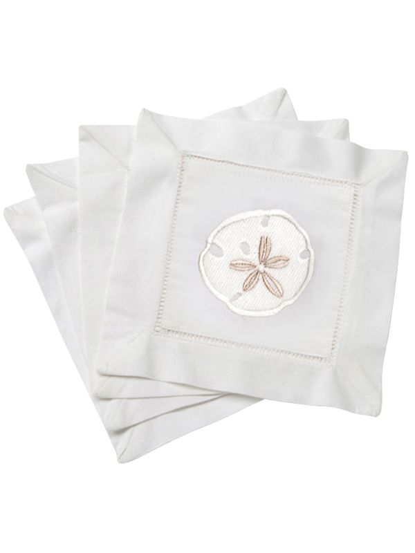 LG82-SDCR Cocktail Napkins - Sand Dollar (Cream)**. Set of 4