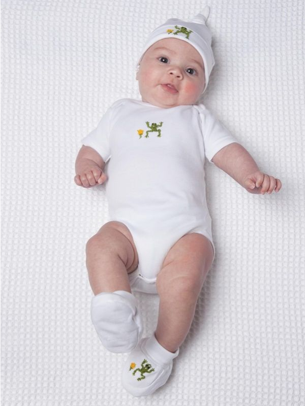 RW25-FRGR Onesie (Short Sleeve), Combed Cotton - Frog (Green)**