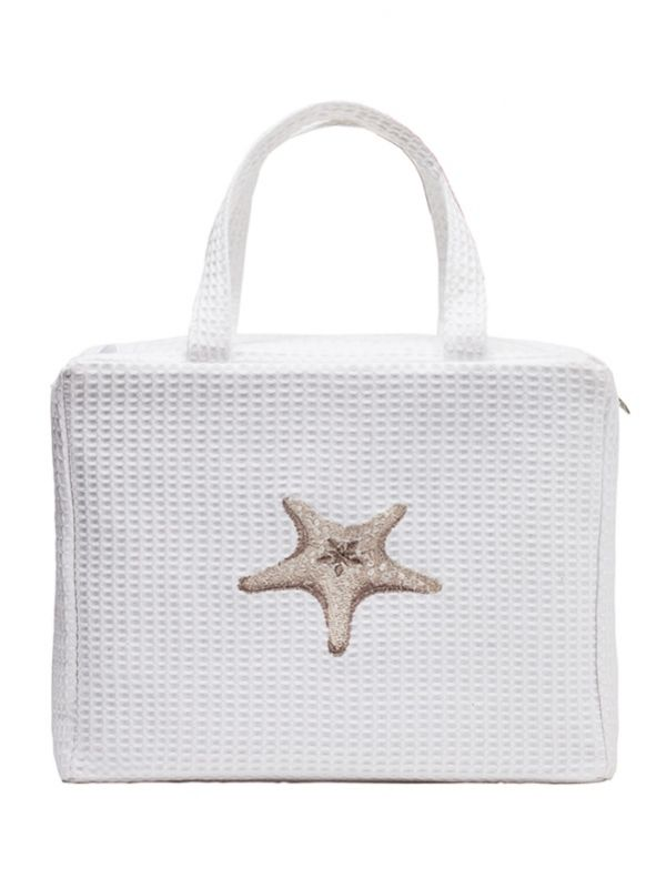 DG60-MSFBE Cosmetic Case, Waffle Weave - Morning Starfish (Beige)
