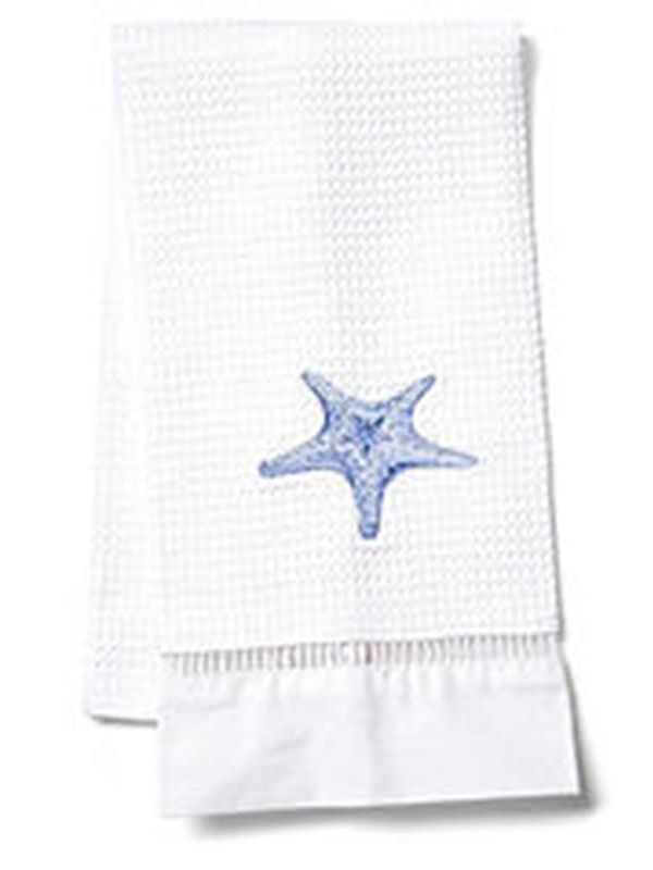 DG02-MSFBL** Guest Towel, Waffle Weave - Morning Starfish (Blue)
