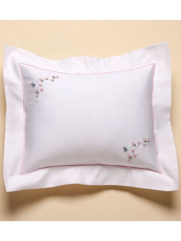 RW16-RABP Boudoir Pillow Cover - Rosebuds and Butterfly (Pink)**