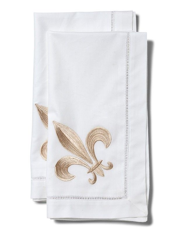 LG81-FLBE Dinner Napkin, Fleur de Lis (Beige)** Set of 2