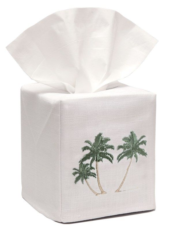 DG17-TPT** Tissue Box Cover - Three Palm Trees (Green)