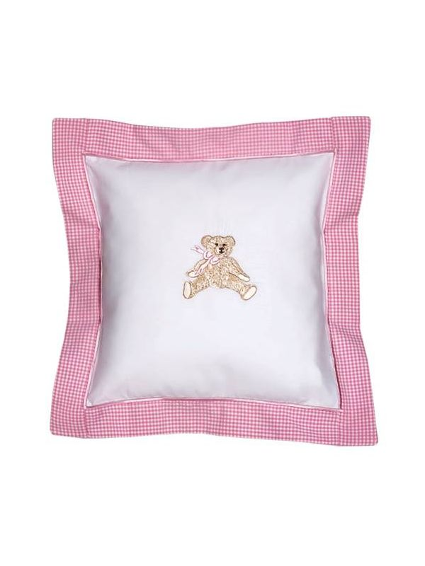 DG136-BTP Baby Pillow Cover - Bow Teddy (Pink)