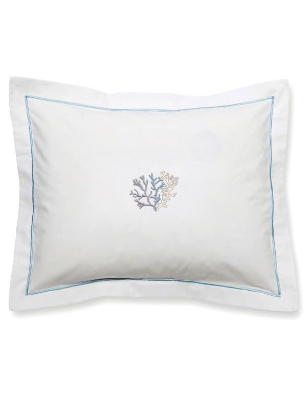 DG78-CLDE** Boudoir Pillow Cover - Coral (Duck Egg Blue)