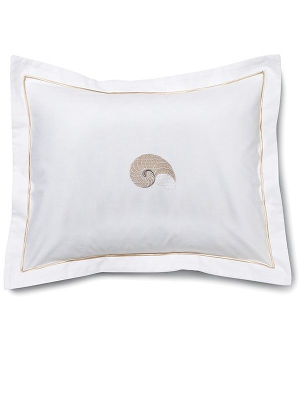 DG78-STNBE Boudoir Pillow Cover - Striped Nautilus (Beige)