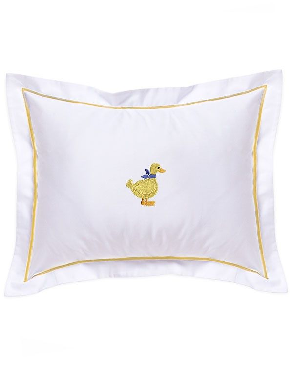 DG81-DY Baby Boudoir Pillow Cover, Yellow Satin Trim - Duck (Yellow)