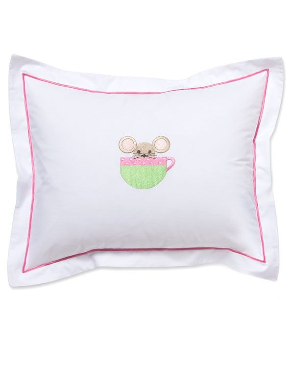 DG81-MICP Baby Boudoir Pillow Cover - Mouse in Cup (Pink)