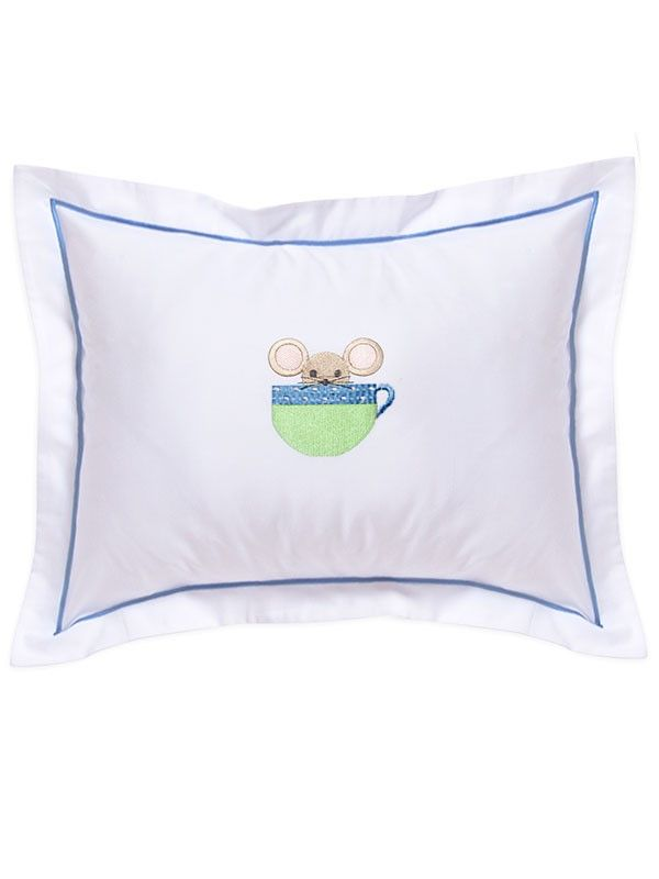DG81-MICB Baby Boudoir Pillow Cover - Mouse in Cup (Blue)