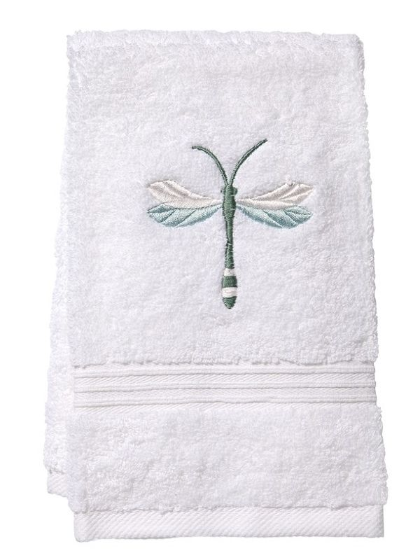DG70-TDAQ Guest Towel, Terry - Twilight Dragonfly (Aqua)