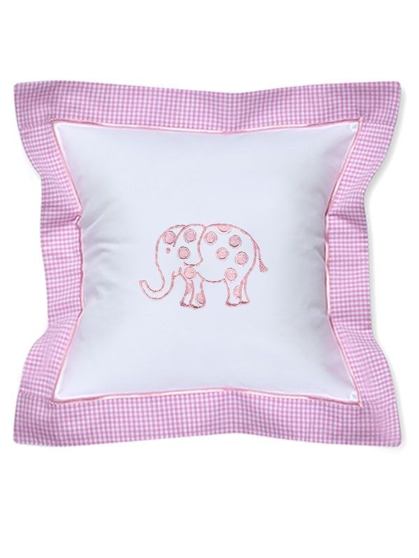 DG136-DEPK Baby Pillow Cover - Dot Elephant (Pink)