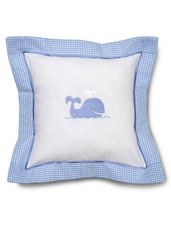 DG136-WB Baby Pillow Cover - Whale (Blue)**