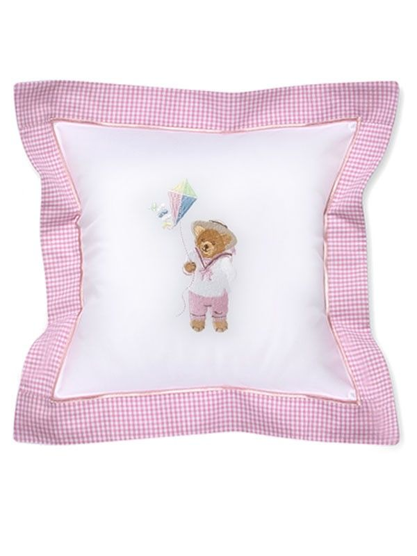 DG136-KTPK Baby Pillow Cover - Kite Teddy (Pink)