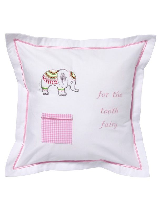 DG131-LCEP Tooth Fairy Pillow Cover - Lucky Charm Elephant (Pink)