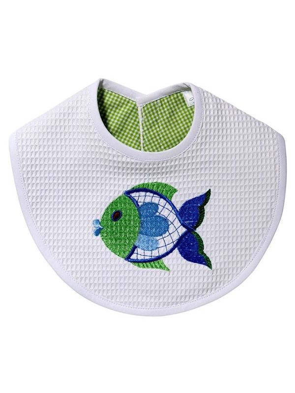 DG133-FFBG** Bib - Freddy Fish (Blue/Green)